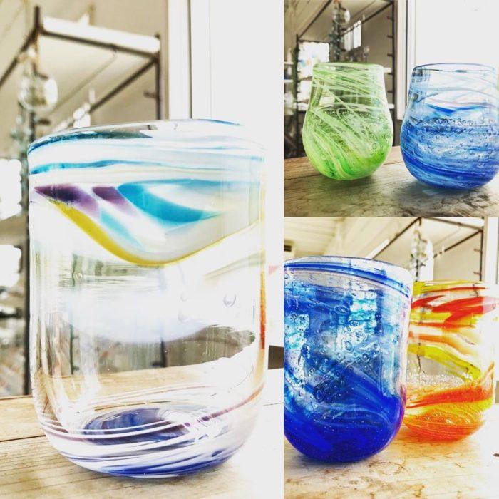 吹きガラスの作品たち