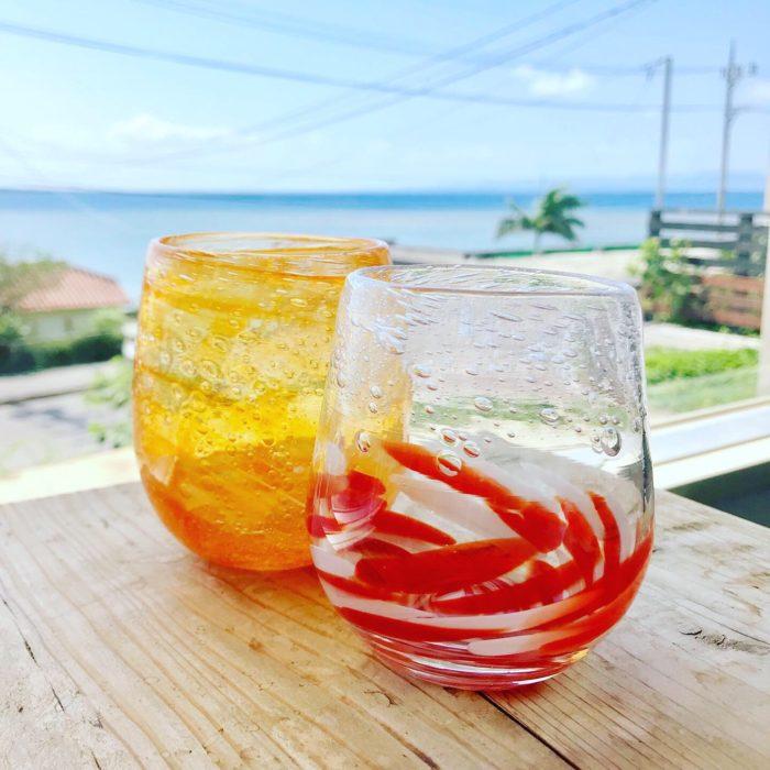 石垣島で吹きガラス。