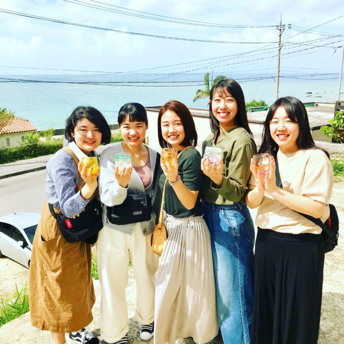 吹きガラス、石垣島女子旅。
