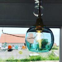 石垣島ガラス工房PONTEのランプシェード