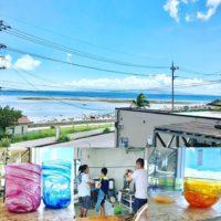 吹きガラス体験の作品たち
