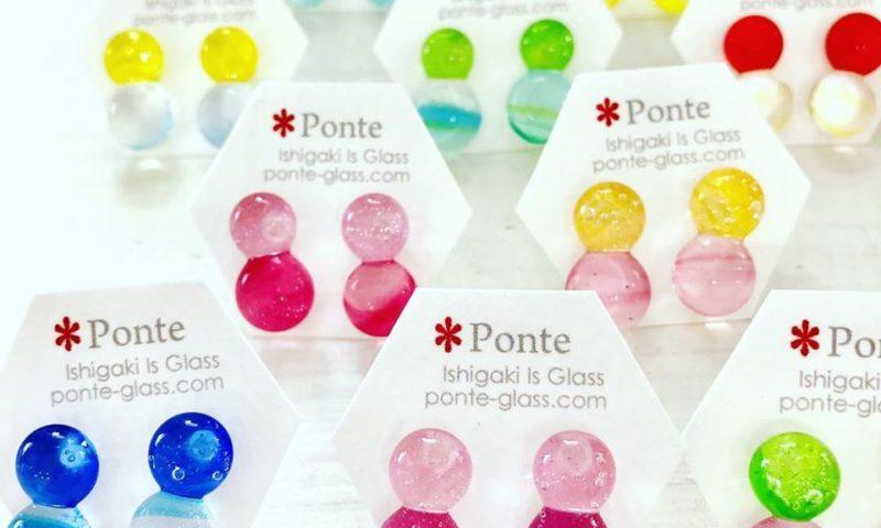 樹脂ポストのガラスのピアス
