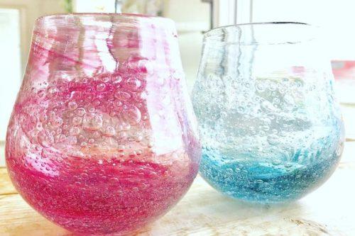 吹きガラス体験の作品