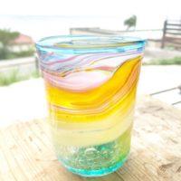 虹色グラス