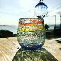 虹色泡グラス。