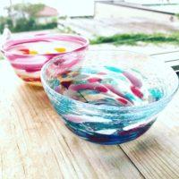 体験のガラス小鉢