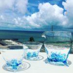 サザエグラスの酒器セット。沖縄を家飲みで感じる。
